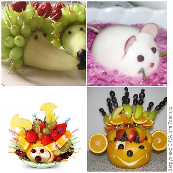Украшение из фруктов для детского стола