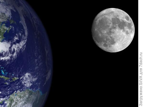 Фото интернета Земля+ Луна