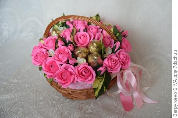 Корзина конфет ко дню Святого Валентина. Фото предоставлено Екатериной