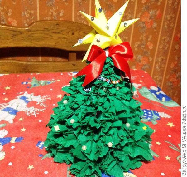 Готовый вариант бумажной красавицы(елки)
