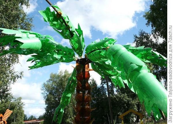 пальма из пластиковых бутылок, фото с сайта turistclub.tomsk.ru