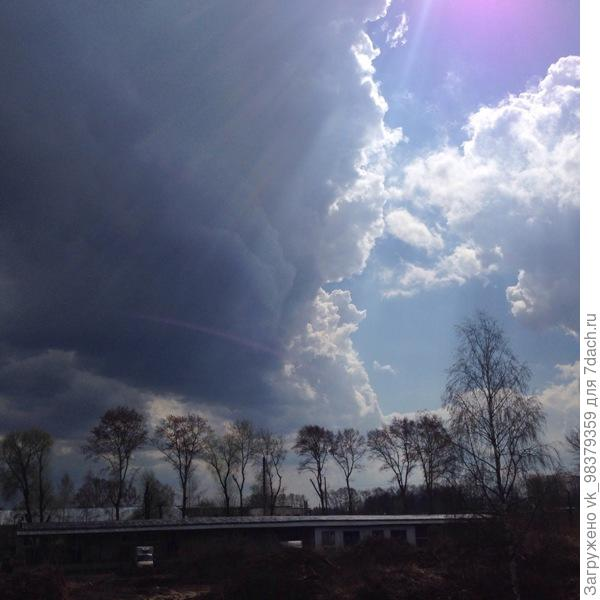 Небо во время грозы.