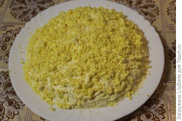 последний слой салата желтки