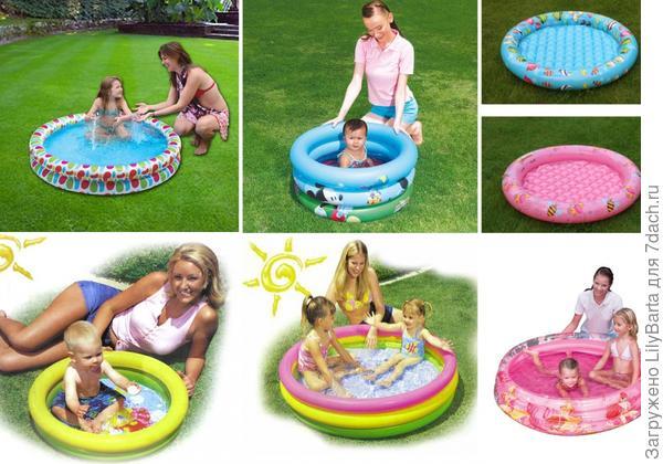 самая простая модель надувного детского бассейна