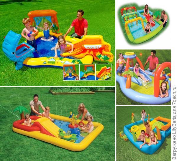 детские бассейны с игровыми комплексами