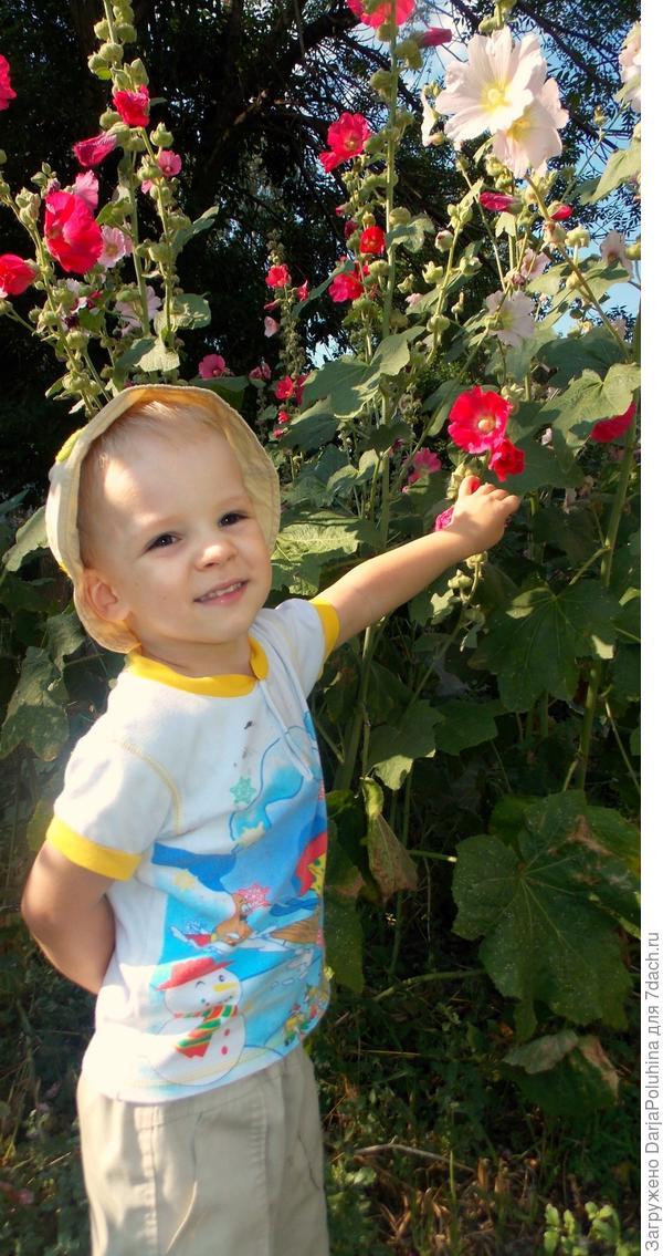Артем - любитель цветов!