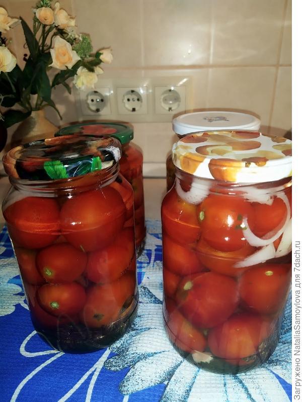 Маринованные помидоры с очень вкусным рассолом. Пошаговый рецепт с фото