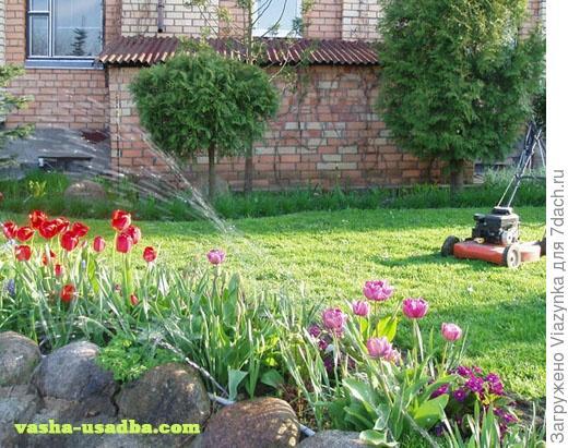 Без техники красивый сад создать невозможно!