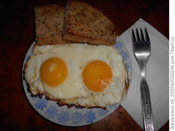 Яичница - глазунья.