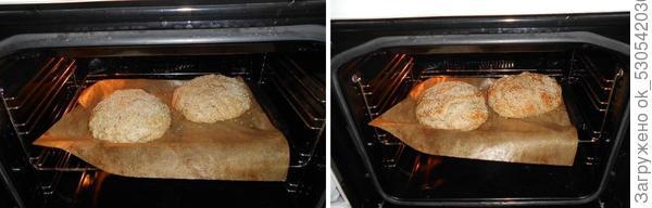 Хлеб выпекаем.