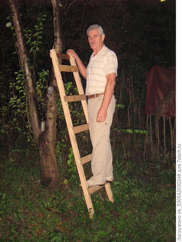 Испытание лестницы.