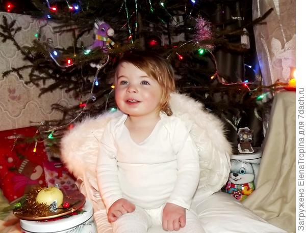 Наш рождественский ангелочек.
