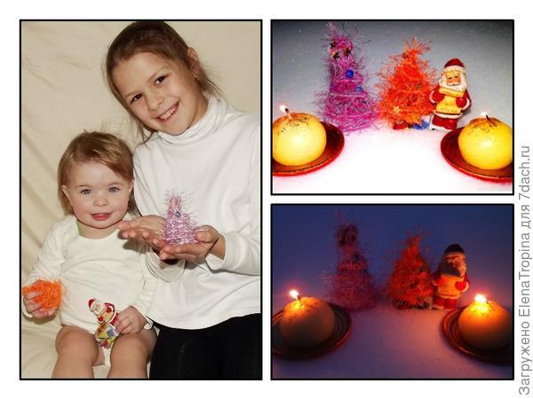 Лолита и Милочка приготовили мини-ёлочки   для праздника .