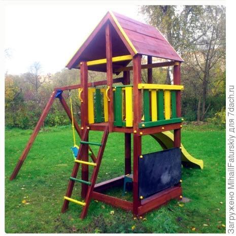 деревянный игровой комплекс