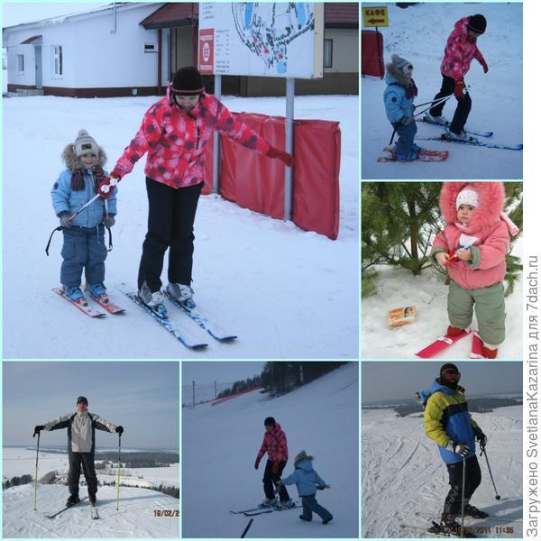 лыжи снег