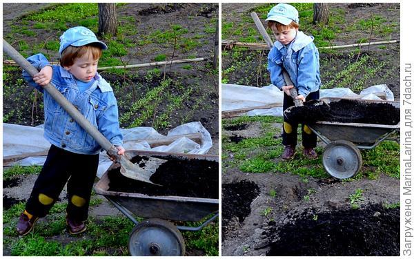 Ну а что делать без лопаты - труженицы на земле?