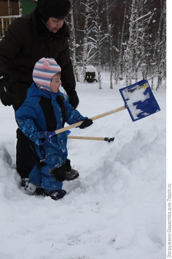 Лопата - не только летний, но и зимний друг дачника!!!