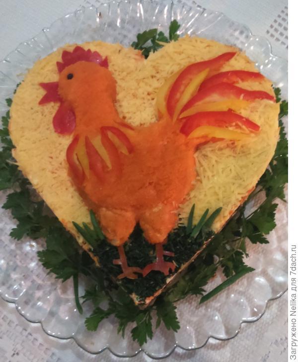 Готовый салат Петя-Петушок