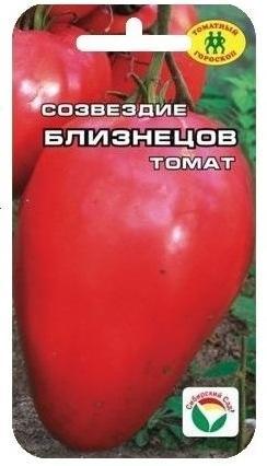 """Фотография пакетика с семенами помидоров """"Созвездие Близнецы""""."""