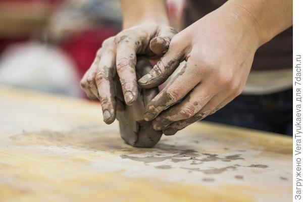 Лепка из глины.