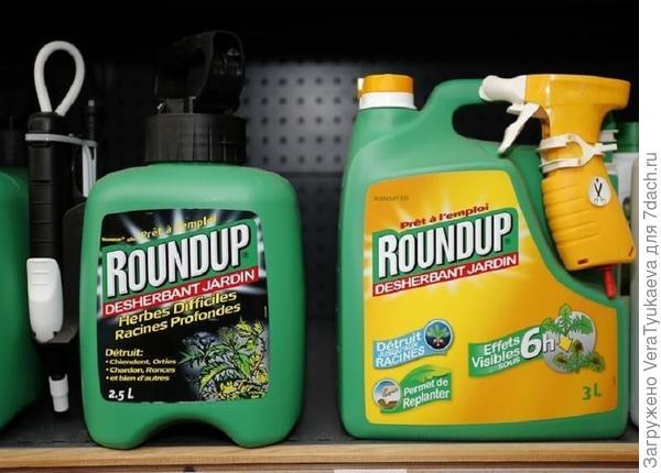 Раундап, первое торговое название препарата, который создан на основе глифосата. Фотография с сайта https://citizentv.co.ke