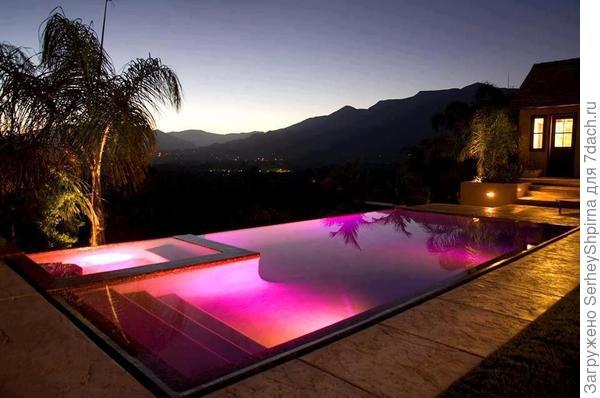 Подсветка басейна
