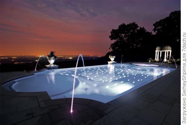 Подсветка в водоеме