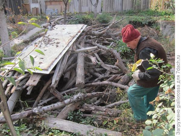 полный двор дров
