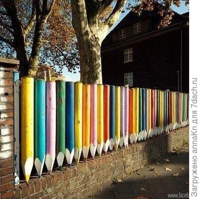Забор из карандашей!