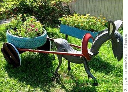 Клумба лошадка