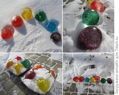 Цветные шарики своими руками