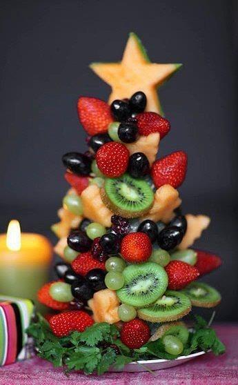 Елочка из фруктов.