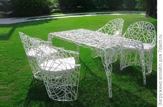 Ажурная мебель для дачи