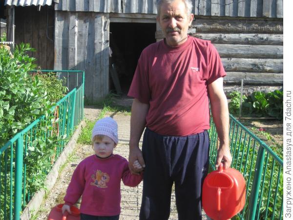 Софья в гостях у бабушки с дедушкой