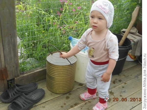 Наша помощница Тасюленька!
