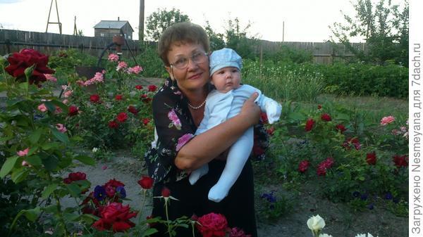Мой цветочек Егорка и бабушка