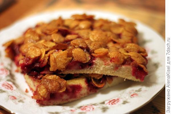 Вишневый пирог с хрустящей корочкой из кукурузных хлопьев и Яблочный пирог из сухого теста.