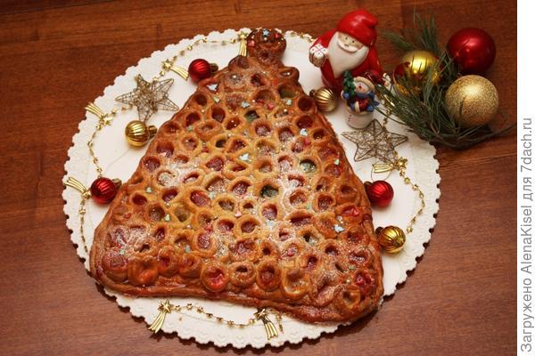 Пирог с мармеладом - Новогодняя ёлка