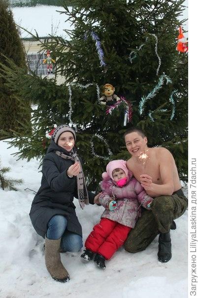 наша новогодняя дачная елка