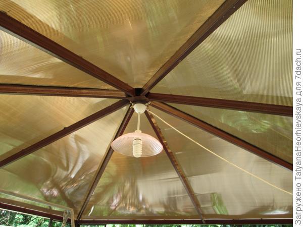 Крыша беседки (вид снизу)