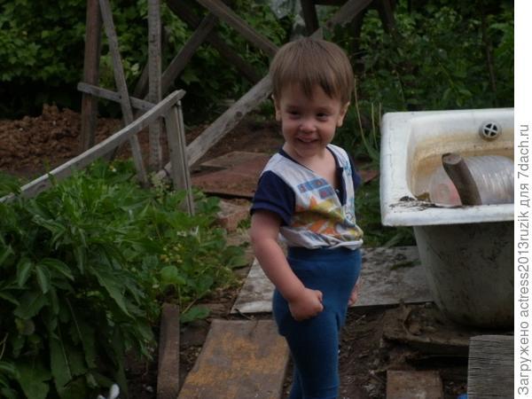 Богдан 3 года на даче!