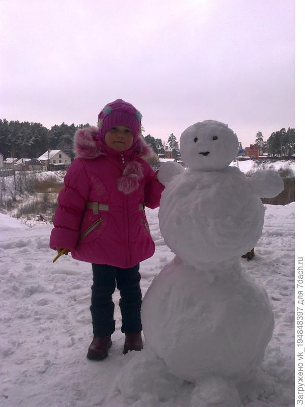 Лепим снеговичка