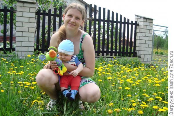 Мой сыночек в цветочках)
