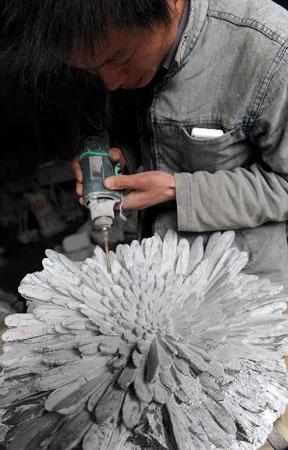 Хубейская каменная чудо-хризантема