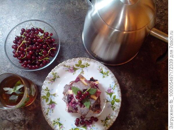 брауни с творогом и вишней