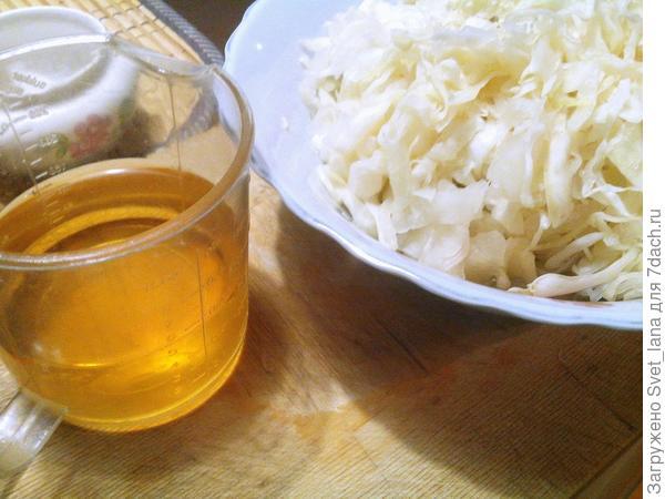 Капуста и яблочный сок.