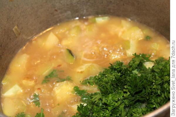 Суп-пюре из кабачка и петрушки - пошаговый рецепт приготовления с фото