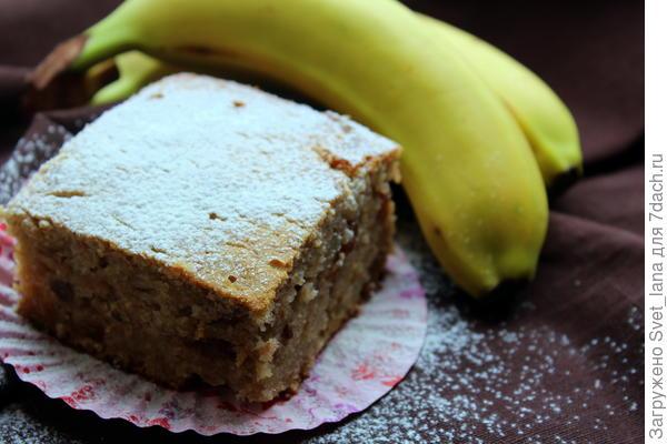 Орехово-банановый кекс