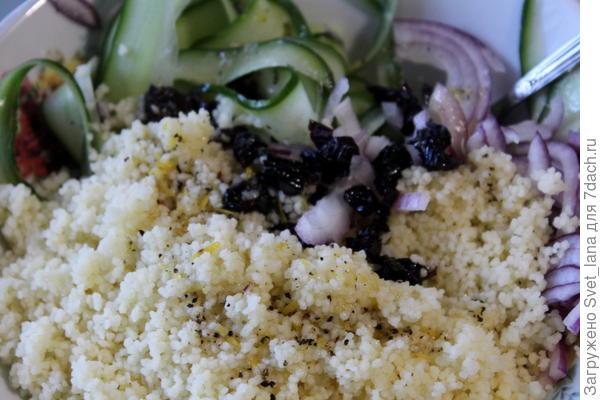 Салат из кускуса со свежими огурцами и фетой - пошаговый рецепт приготовления с фото