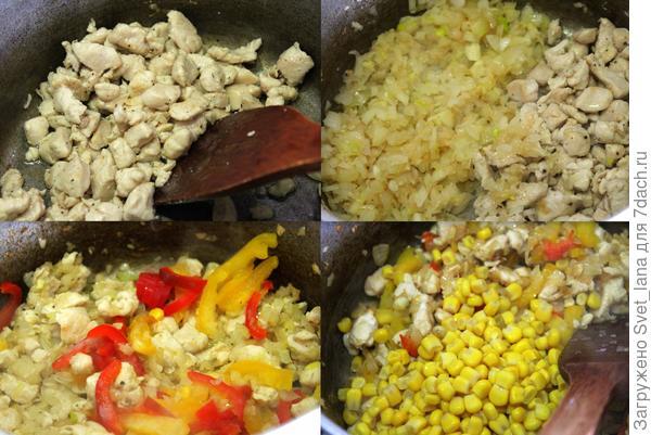 Кесадилья с курицей - пошаговый рецепт приготовления с фото